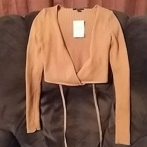 Forever 21 sweater top, camel color, size medium.